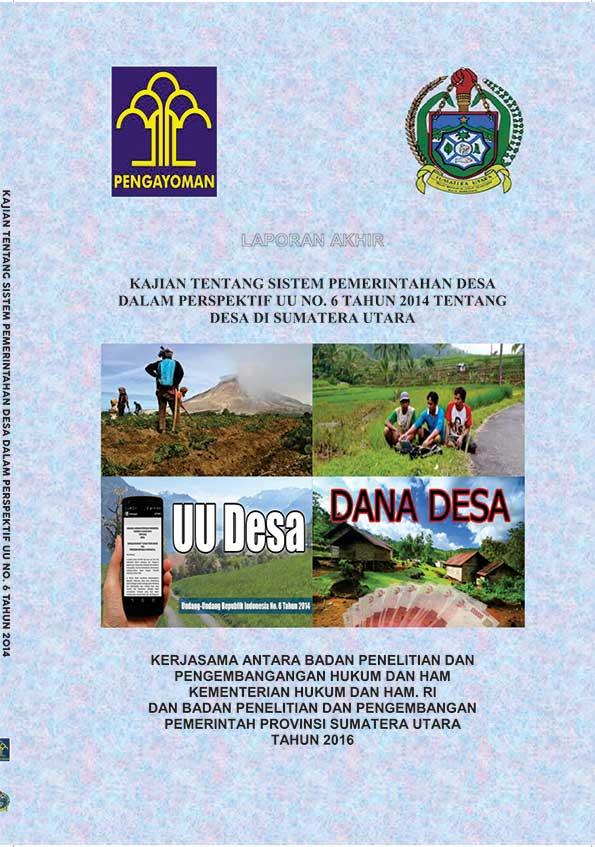 KAJIAN TENTANG SISTEM PEMERINTAHAN DESA DALAM PERSPEKTIF UU NO. 6 TAHUN 2014 TENTANG DESA DI SUMATERA UTARA