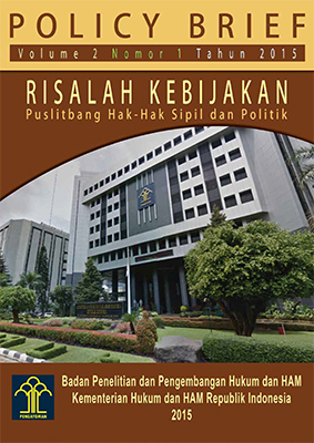 Risalah Kebijakan (Volume 2 Nomor 1 Tahun 2015)